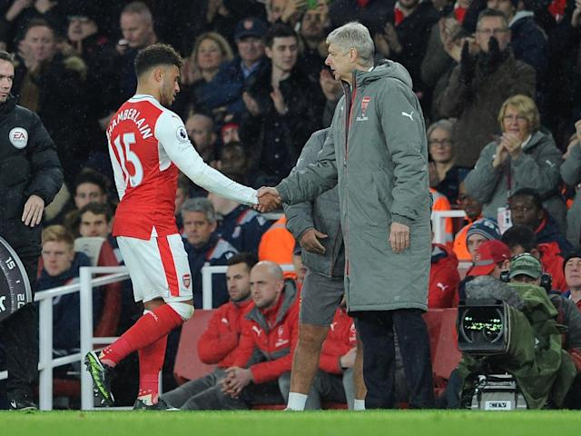 Oxlade-Chamberlain has been linked with Liverpool and Manchester City (Getty)