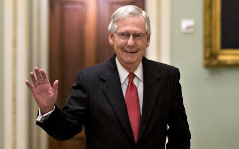 <span>Mitch McConnell, leader of the Republicans in the Senate</span>