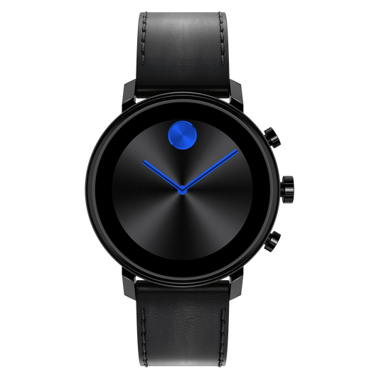 """<p><strong>MOVADO</strong></p><p>nordstrom.com</p><p><strong>$413.50</strong></p><p><a href=""""https://go.redirectingat.com?id=74968X1596630&url=https%3A%2F%2Fwww.nordstrom.com%2Fs%2Fmovado-bold-connect-2-0-leather-strap-smart-watch-42mm%2F5708942&sref=https%3A%2F%2Fwww.menshealth.com%2Fstyle%2Fg33482000%2Fbest-smart-watches-for-men%2F"""" rel=""""nofollow noopener"""" target=""""_blank"""" data-ylk=""""slk:BUY IT HERE"""" class=""""link rapid-noclick-resp"""">BUY IT HERE</a></p><p>Strap on a mix of modern design and tactical innovation with the Movado Bold Connect 2.0, which features Google Pay, Google Fit, advanced activity tracking, and more. The style is available in sizes 40mm and 42mm, and features practical, understated luxury. Calls, text messages, emails, and apps show up on a crystal-clear, well-built screen. You can feel confident staying the course with two to four-days of battery life. </p>"""