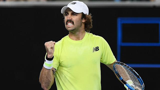 Jordan Thompson overcame big-serving American John Isner – who had a first-round bye – 7-6 (7-2) 6-7 (3-7) 6-3 in New York on Thursday.