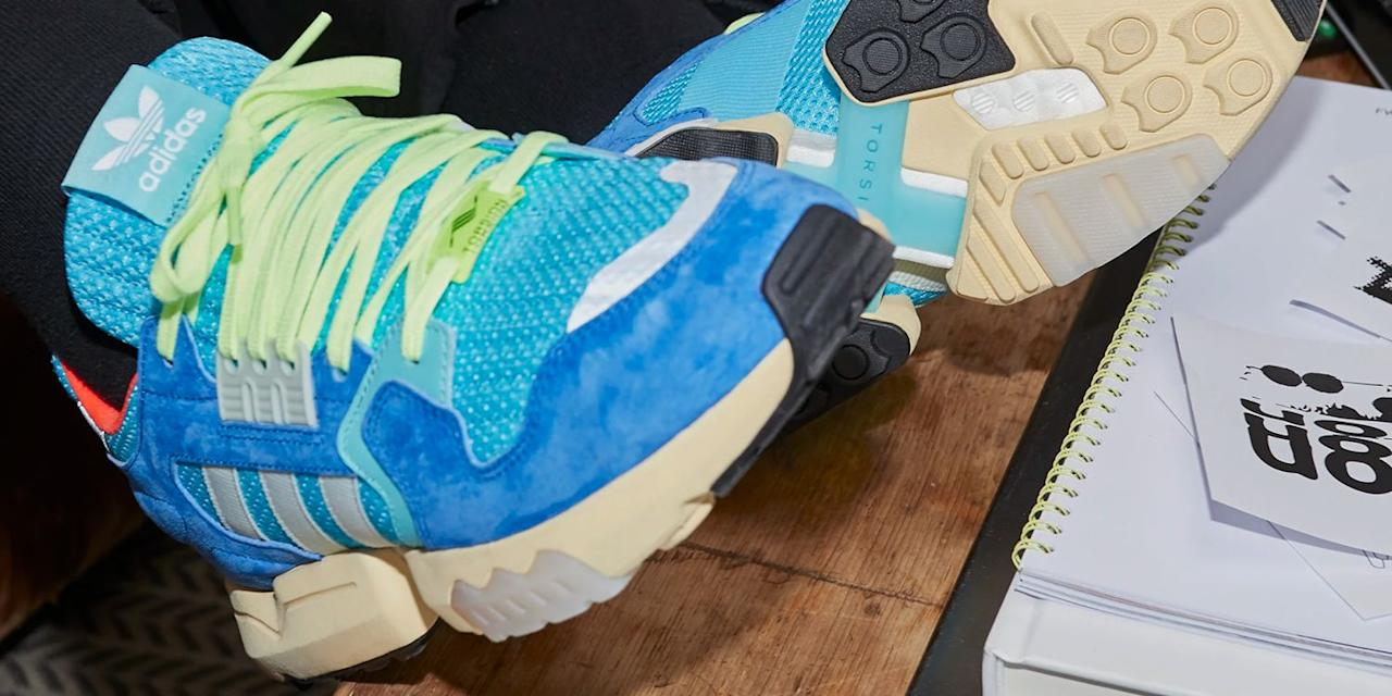 "<p>Adidas is releasing bomb-ass sneakers for men almost every week, and we're feeling #blessed! We're not the only ones who want a closet full of the latest adidas releases either — the brand is more popular than ever, thanks to their killer looks that prove you don't have to sacrifice style for comfort (<a href=""https://footwearnews.com/2018/business/earnings/adidas-ultra-boost-sales-2018-earnings-q2-1202655378/"" target=""_blank"">their Ultra Boost design has really changed the game</a>)! Check out these new styles, and you'll see why we just can't get enough of the latest adidas shoes for men.</p>"
