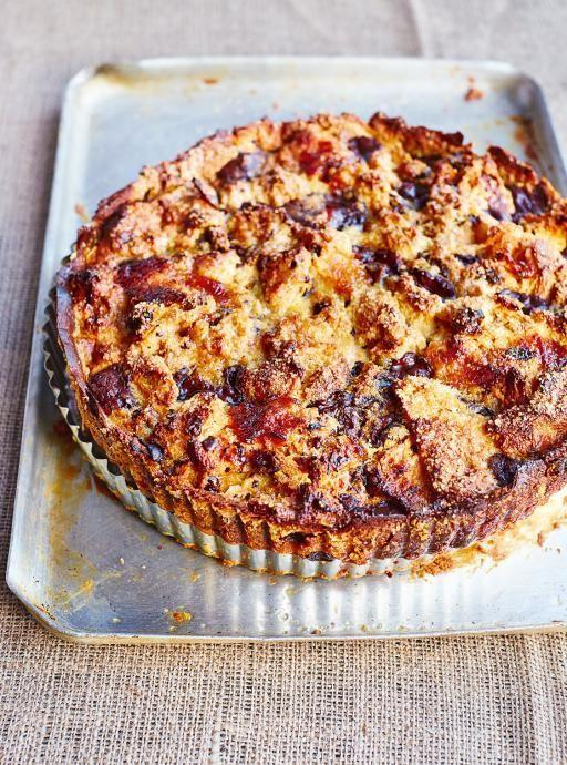"<p>Don't let your fruitcake sit until February. This decadent bread and butter pudding features layers of cake, chocolate, marmalade and custard and it's baked until golden.<br>Get the recipe <a href=""http://thehappyfoodie.co.uk/recipes/bonkers-bread-and-butter-panettone-pudding-tart"" rel=""nofollow noopener"" target=""_blank"" data-ylk=""slk:here"" class=""link rapid-noclick-resp""><strong>here</strong></a><br>[Photo: The Happy Foodie] </p>"