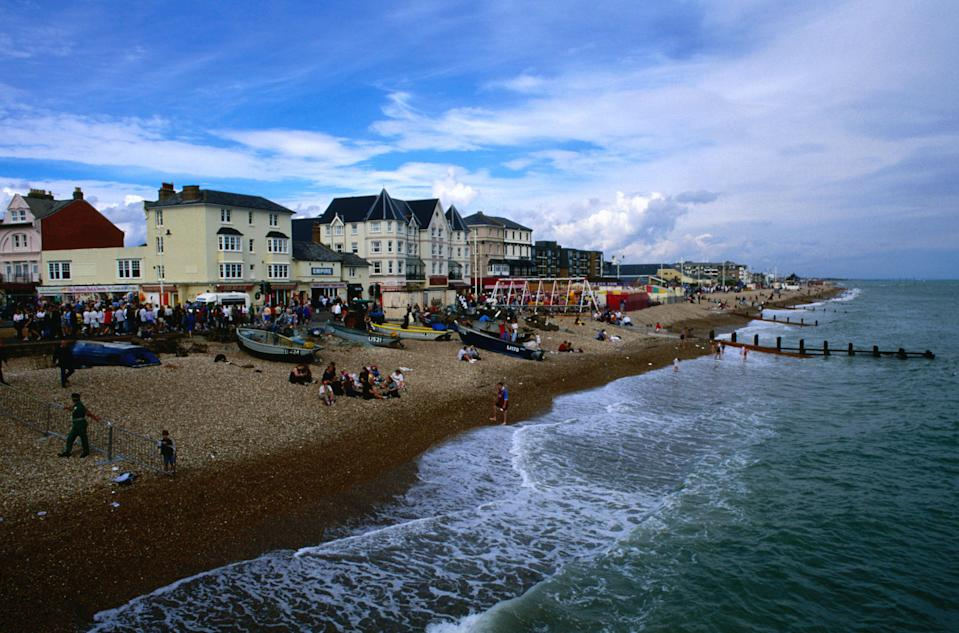 <em>Elmer Beach at Bognor has been cordoned off after a Second World War sea mine was found (Picture: Getty)</em>