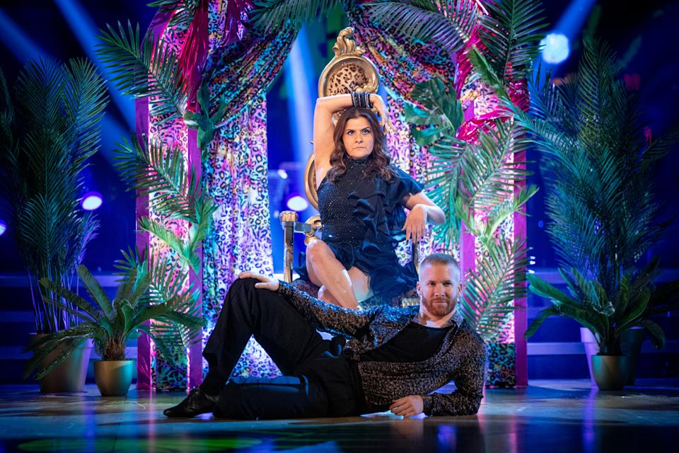 WARNING: Embargoed for publication until 21:20:00 on 25/09/2021 - Programme Name: Strictly Come Dancing 2021 - TX: 25/09/2021 - Episode: Strictly Come Dancing - TX1 LIVE SHOW (No. n/a) - Picture Shows: ++DRESS RUN++ *NOT FOR PUBLICATION UNTIL 21:20HRS, SATURDAY 25TH SEPTEMBER, 2021* Nina Wadia, Neil Jones - (C) BBC - Photographer: Guy Levy