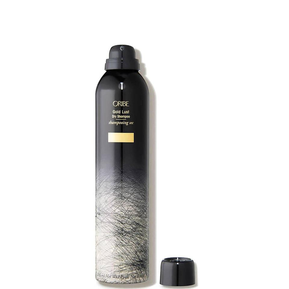 """<p><strong>ORIBE</strong></p><p><strong>$48.00</strong></p><p><a href=""""https://go.redirectingat.com?id=74968X1596630&url=https%3A%2F%2Fwww.oribe.com%2Foribestorefront%2Foribe%2Fen%2F-%2FCollections%2FGold-Lust%2FGold-Lust-Dry-Shampoo%2Fp%2F400100&sref=https%3A%2F%2Fwww.elle.com%2Fbeauty%2Fmakeup-skin-care%2Fg37870658%2Fblack-friday-cyber-monday-beauty-deals-2021%2F"""" rel=""""nofollow noopener"""" target=""""_blank"""" data-ylk=""""slk:Shop Now"""" class=""""link rapid-noclick-resp"""">Shop Now</a></p><p>In 2020, Oribe offered 20% off liter sizes of shampoo and conditioner with a special code. I'm crossing my fingers that deal applies to their amazing dry shampoo this year.</p>"""