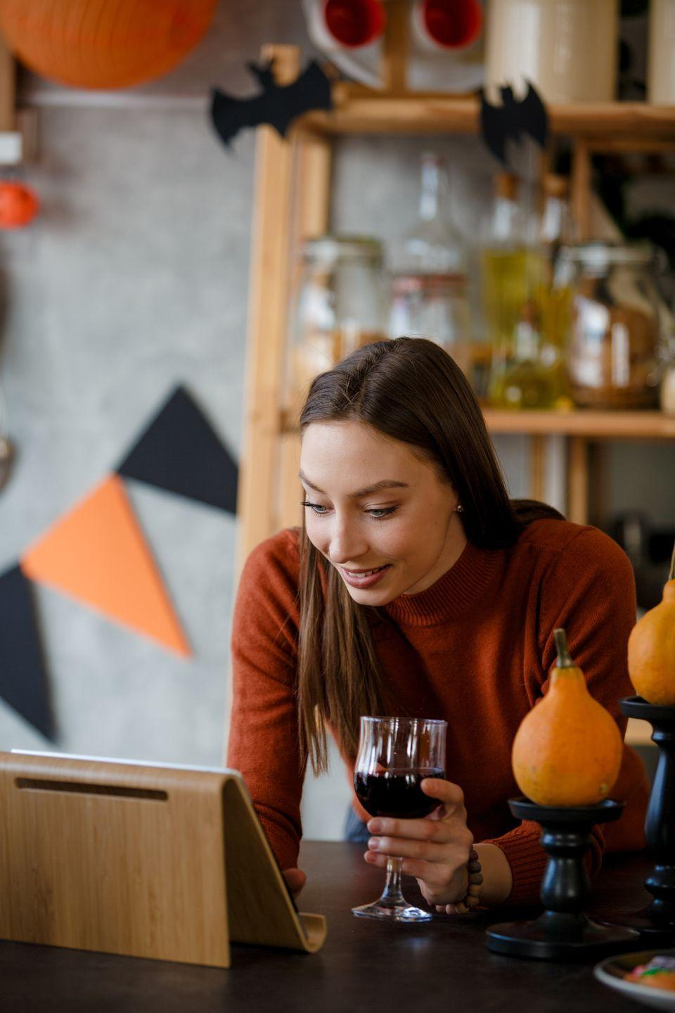"""<p>At this point in quarantine, we're all pros at hosting virtual get-togethers. Pour a drink, put on a costume, and invite all your friends to a Halloween FaceTime or Zoom party.</p><p><strong>RELATED:</strong> <a href=""""https://www.goodhousekeeping.com/life/entertainment/g32098665/best-games-to-play-on-zoom/"""" rel=""""nofollow noopener"""" target=""""_blank"""" data-ylk=""""slk:10 Fun Games to Play on Zoom"""" class=""""link rapid-noclick-resp"""">10 Fun Games to Play on Zoom</a></p>"""