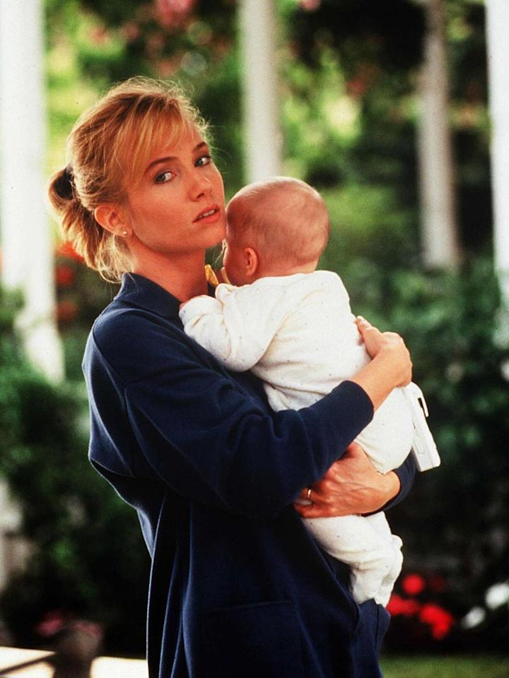 """<a href=""""http://movies.yahoo.com/movie/contributor/1800017673"""">Rebecca De Mornay</a>, """"<a href=""""http://movies.yahoo.com/movie/1800170847/info"""">The Hand That Rocks the Cradle</a>""""<br><br>After suffering a miscarriage brought on by her husband's death, Rebecca De Mornay poses as a nanny and embarks on a journey of seduction and destruction. The model family she targets could have prevented a great amount of pain had they just invested in a Nanny Cam before allowing this seemingly sweet sociopath access to their happy home."""