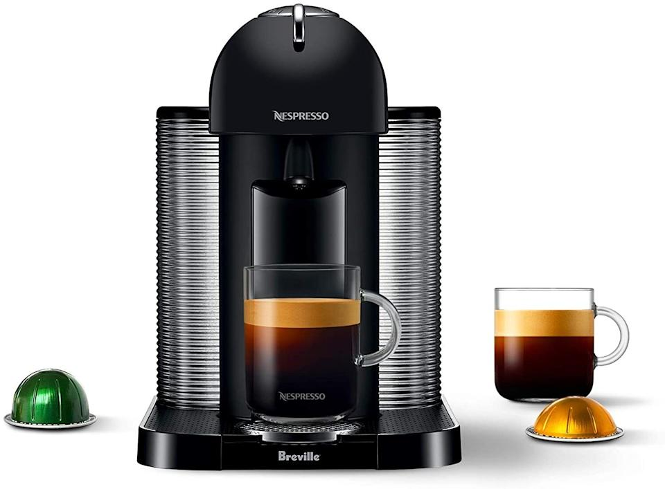 """It'llhave your favorite drink ready in minutes — say goodbye to your cranky morning mood.It heats up in 15 seconds and has a 40-ounce water tank so you don't have to fill it every morning.<br /><br /><strong>Promising review:</strong>""""I like iced coffee with high caffeine. This fits the bill perfectly and is a joy to use and drink. My Starbucks monthly bill has come down considerably after buying this unit, and I'm ready to hit the ground running that much sooner in the morning. I especially enjoy the self cleaning feature and the ability to run it for smaller or larger cup sizes. Truly a premium product."""" —<a href=""""https://www.amazon.com/dp/B01MR8Y1UJ?tag=huffpost-bfsyndication-20&ascsubtag=5817703%2C8%2C43%2Cd%2C0%2C0%2C0%2C962%3A1%3B901%3A2%3B900%3A2%3B974%3A3%3B975%3A2%3B982%3A2%2C16175980%2C0"""" target=""""_blank"""" rel=""""noopener noreferrer"""">David T.</a><br /><br /><strong>Get it from Amazon for <a href=""""https://www.amazon.com/dp/B01MR8Y1UJ?tag=huffpost-bfsyndication-20&ascsubtag=5817703%2C8%2C43%2Cd%2C0%2C0%2C0%2C962%3A1%3B901%3A2%3B900%3A2%3B974%3A3%3B975%3A2%3B982%3A2%2C16175980%2C0"""" target=""""_blank"""" rel=""""noopener noreferrer"""">$182.99</a> (available in five colors).</strong>"""