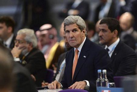U.S. Secretary of State John Kerry listens to speakers at the donors Conference for Syria in London, Britain February 4, 2016. REUTERS/Stefan Rousseau/pool