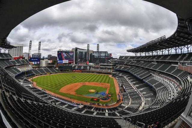 """A worker who died at the <a class=""""link rapid-noclick-resp"""" href=""""/mlb/teams/atl"""" data-ylk=""""slk:Braves"""">Braves</a>' SunTrust Park reportedly got trapped in a beer cooler while installing an innovative tap system he had developed. (AP)"""