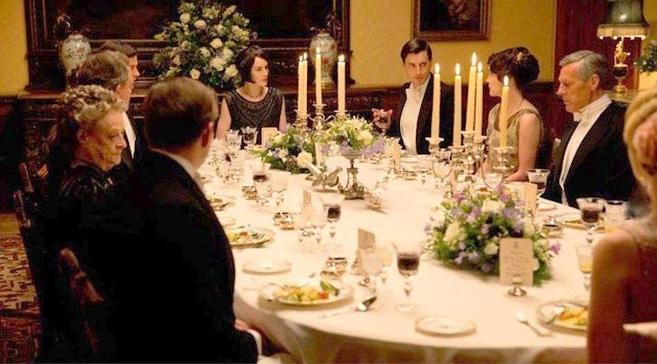"""<p>""""Often the food will be on the table and we're not actually going to eat it,"""" London-based food stylist Lisa Heathcote <a href=""""https://www.bostonglobe.com/lifestyle/food-dining/2013/01/01/the-food-downton-abbey-real-and-looks-good-but-prop/EtjhDP1y4G35bMu98szifN/story.html"""" rel=""""nofollow noopener"""" target=""""_blank"""" data-ylk=""""slk:said"""" class=""""link rapid-noclick-resp"""">said</a>. """"If you have fake food, it's going to look like fake food.""""</p>"""
