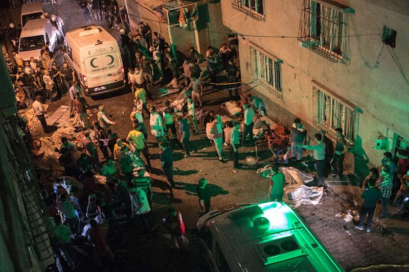 Fifty four people were killed in the August 20 suicide bombing on a Kurdish wedding in Gaziantep (AFP Photo/Ahmed Deeb)