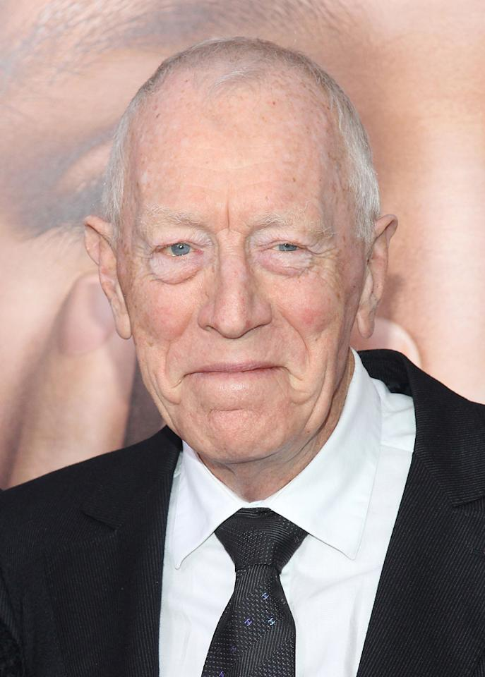 """My sincere thanks to my colleagues at the Academy,"" said Max von Sydow, Best Supporting Actor nominee for ""Extremely Loud & Incredibly Close."" ""It is wonderful. I don¹t know what to say I am dumbfounded."""