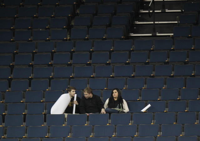 Johns Hopkins will host Divison III tournament games without fans in attendance. (AP Photo/John Bazemore)