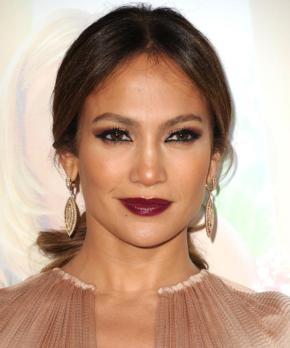 """<h3>2012</h3><br>Behold, the berry lip and black smoky eye combo we'll be wearing to every function next fall.<span class=""""copyright"""">Photo: Steve Granitz/WireImage.</span>"""