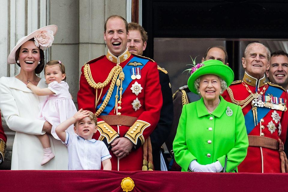 <p>It's for their grandmother's birthday, after all. The traditional Trooping the Colour ceremony is also known as the Queen's official birthday celebration. Here, the entire Royal family watches the Royal Air Force fly above from the palace balcony. </p>