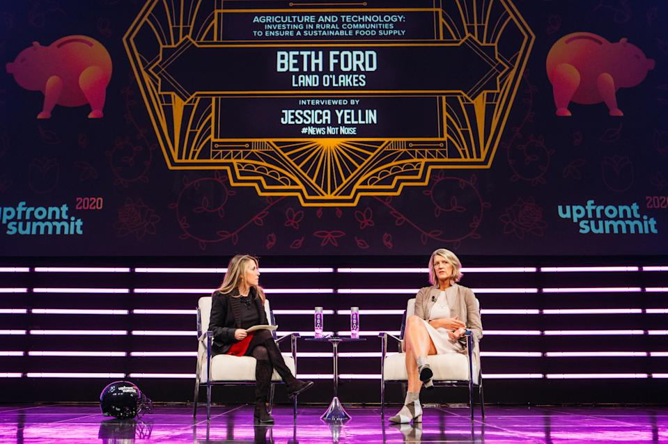 Land O'Lakes CEO Beth Ford and journalist Jessica Yellin at the 2020 Upfront Summit
