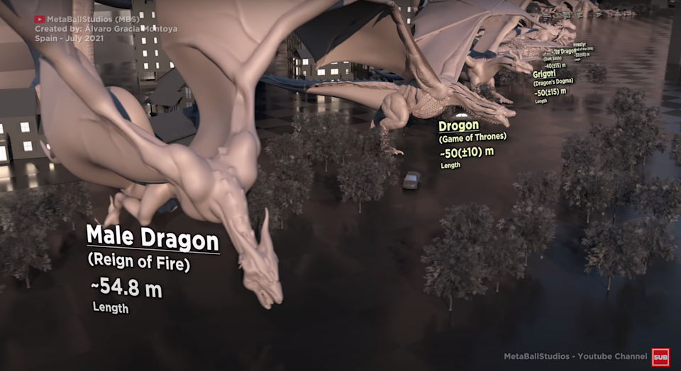 A lineup of fictional dragons, including those from the likes of Minecraft and The Hobbit.