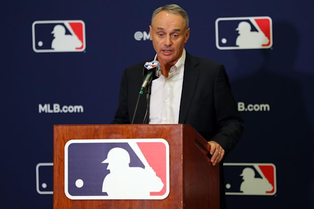 Will Rob Manfred be able to work out a deal with the MLBPA? (Getty Images)