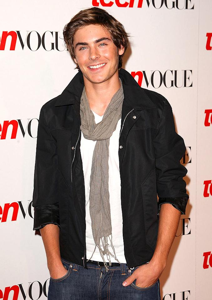 """A smiling Zac Efron arrived at the Teen Vogue """"Young Hollywood"""" party at the Los Angeles County Museum Of Art. Does it get any better than this?! Jason Merritt/<a href=""""http://www.filmmagic.com/"""" target=""""new"""">FilmMagic.com</a> - September 18, 2008"""