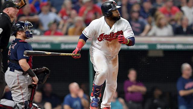 Carlos Santana's walk-off homer gives Indians sole possession of