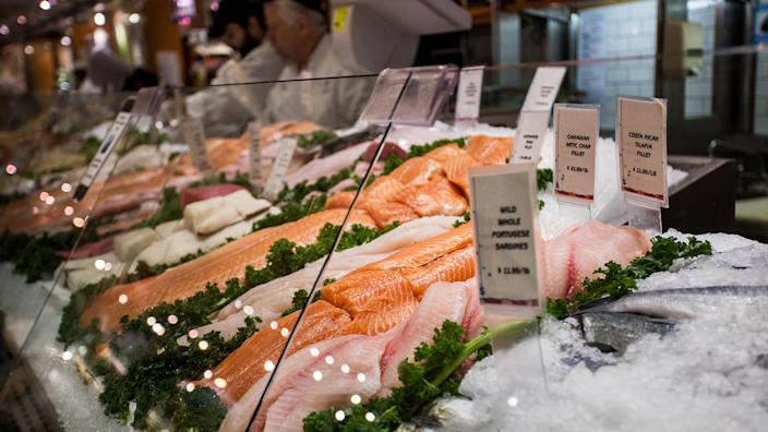 Display of fresh fish for sale at local market in Grand Central Station (Getty Images)
