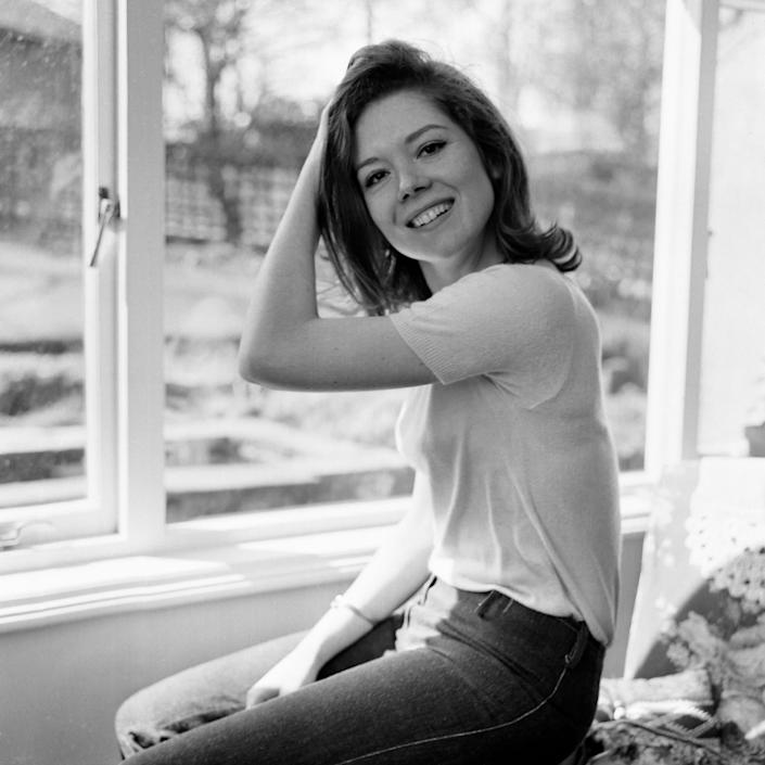 Diana Rigg pictured at her parents home at Roundhay, Leeds, before taking on the role of Emma Peel in The Avengers - Mirrorpix via Getty Images