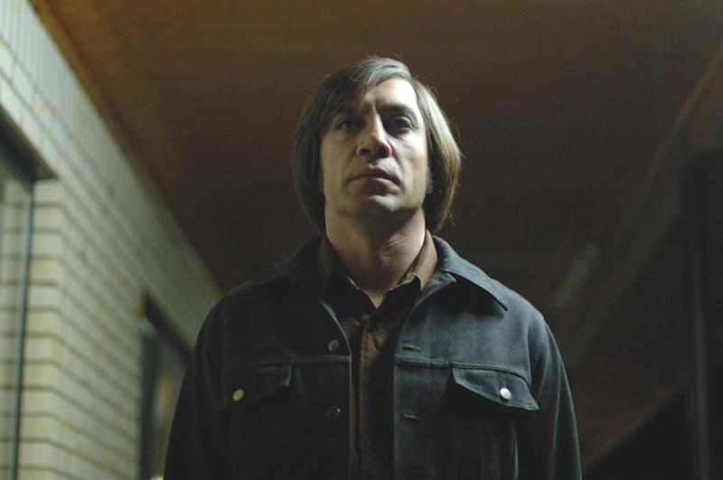 """FILE - This file photo released by Miramax shows actor Javier Bardem in a scene from """"No Country for Old Men."""" (AP Photo/Miramax Films, Richard Foreman, File)"""