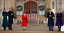 <p>The royals reunite at Windsor Castle, where the Queen is currently staying to thank essential workers.</p>