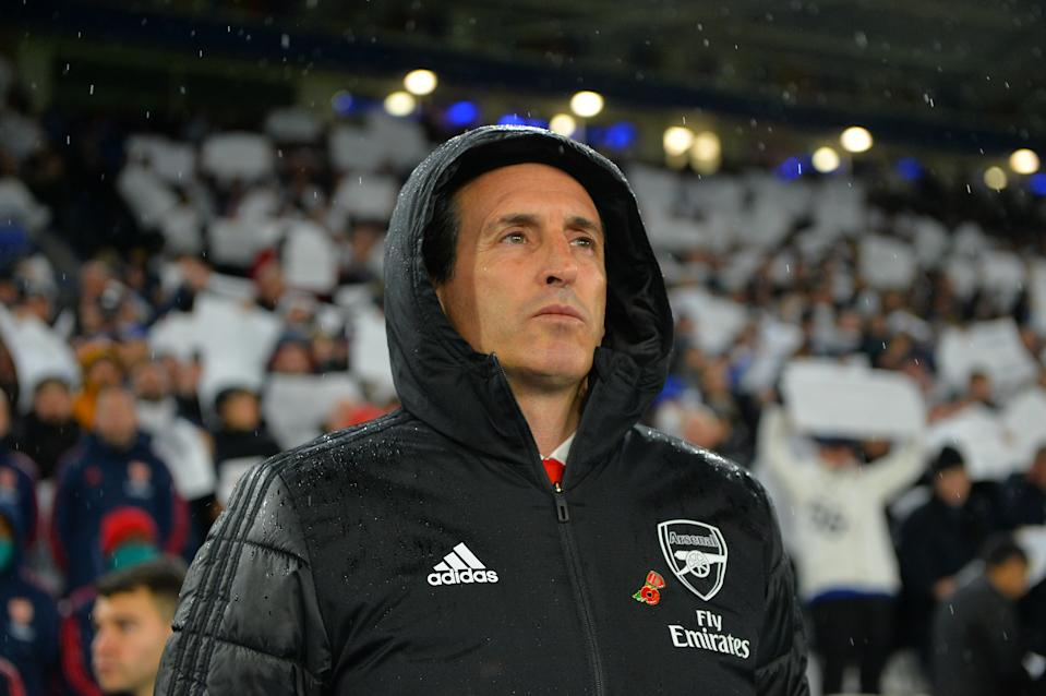 Unai Emery didn't just stop being a good manager when he arrived at the Emirates. So why is Arsenal struggling? (Photo by Plumb Images/Leicester City FC via Getty Images)