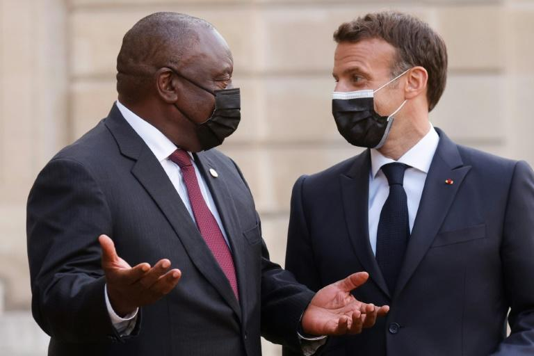 Macron and South Africa's President Cyril Ramaphosa will meet again, soon after their last get-togother in Paris earlier this month