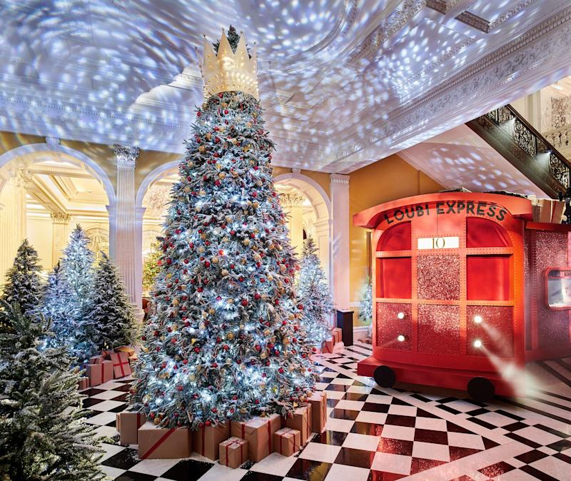 See Christian Louboutin's Seriously Chic Christmas Tree For Claridge's