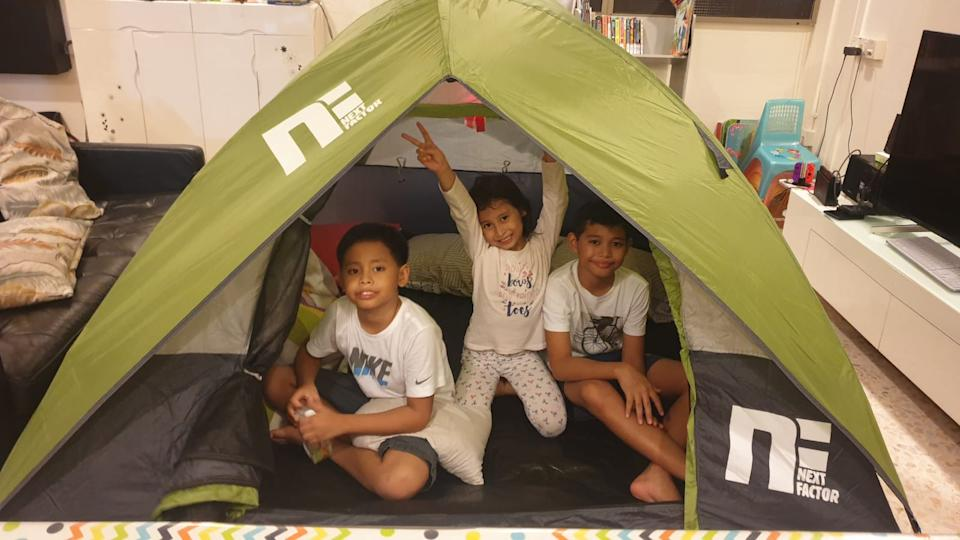 Kids participating in Camp-V, a unique virtual overnight camp for Singapore families.