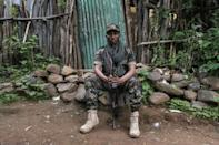 Solomon Alabachew is one of thousands of Amharan fighters awaiting orders to advance