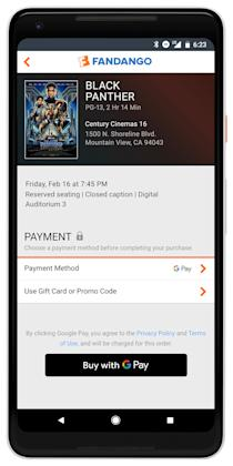Fandango Now Accepting Google Pay For Ticket Purchases