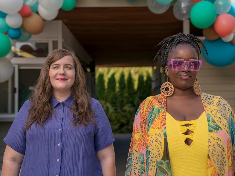 """Aidy Bryant and Lolly Adefope in """"Shrill."""""""