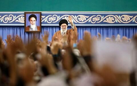 Ayatollah Ali Khamenei accused the protesters of being US-backed agents - Credit: Office of the Iranian Supreme Leader via AP, File