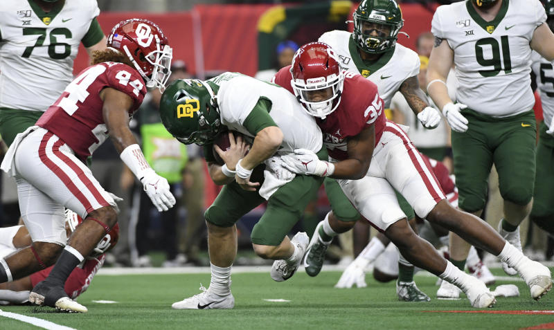 Baylor QB Brewer out of Big 12 championship after big hit