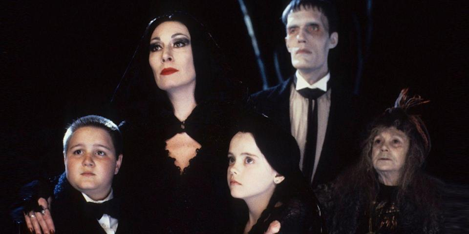 """<p>Need a clever family costume? Look no further than the eccentric characters from this dark '60s sitcom for inspiration. Whether you go as the popular mini homicidal maniac, <a href=""""https://www.bestproducts.com/lifestyle/g3023/wednesday-addams-costume-dress/"""" rel=""""nofollow noopener"""" target=""""_blank"""" data-ylk=""""slk:Wednesday Addams"""" class=""""link rapid-noclick-resp"""">Wednesday Addams</a>, or the family's polite, yet outspoken matriarch, Morticia, you and the gang really can't go wrong with this slightly spooky throwback tribute.</p>"""