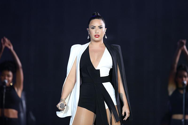 Demi Lovato performs at the Rock in Rio Lisboa a month before she was hospitalized. (Photo: NurPhoto via Getty Images)