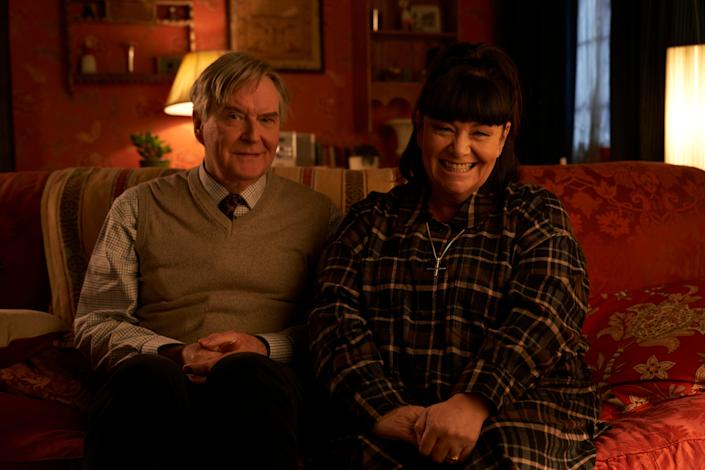 <p>James Fleet and Dawn French return for new 'Vicar of Dibley' lockdown episode</p>BBC/Tiger Aspect Productions Ltd/Des Willie