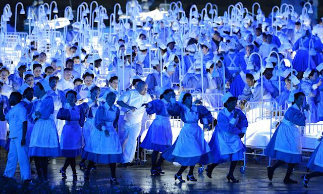 The NHS, as portrayed at the opening of the 2012 London Olympics.