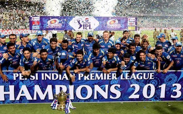 Mumbai Indians won the IPL final in 2013