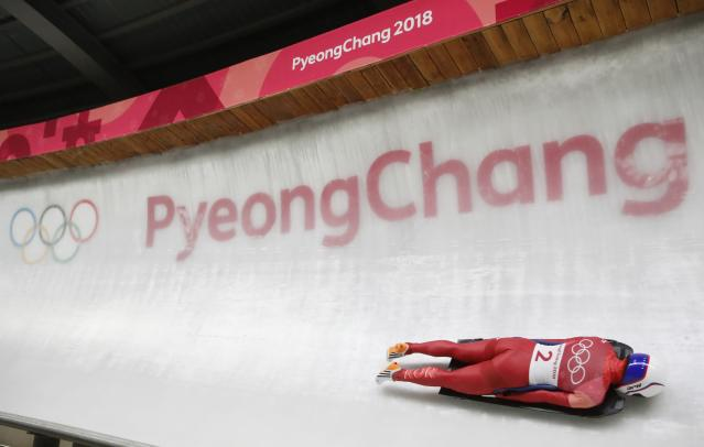 Pyeongchang 2018 Winter Olympics Skeleton - Pyeongchang 2018 Winter Olympics - Women's Finals - Olympic Sliding Centre - Pyeongchang, South Korea - February 17, 2018 - Sophia Jeong of Korea competes. REUTERS/Arnd Wiegmann