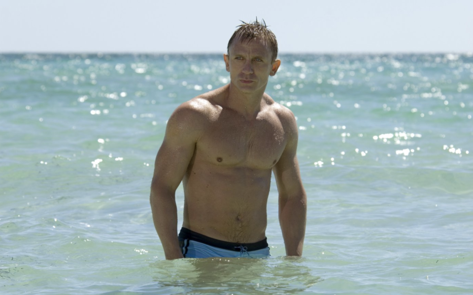 Daniel Craig's James Bond emerges from the Bahaman surf in Casino Royale (Eon/MGM/Sony Pictures)