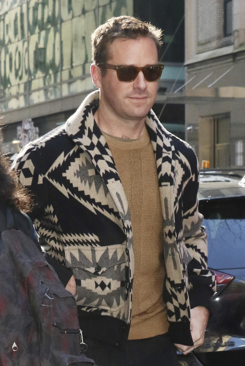 NEW YORK, NY- March 09: Armie Hammer seen exiting NBC's Today in New York City on March 09, 2020. Credit: RW/MediaPunch /IPX