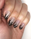 """<p>These dark chocolate brown flames <a href=""""https://www.instagram.com/p/CBqvVRJDkGH/"""" rel=""""nofollow noopener"""" target=""""_blank"""" data-ylk=""""slk:created by nail artist Lauren VonLipstick"""" class=""""link rapid-noclick-resp"""">created by nail artist Lauren VonLipstick</a> may be even more ominous than their fiery orange and red counterparts. </p><p><a class=""""link rapid-noclick-resp"""" href=""""https://www.amazon.com/essie-expressie-quick-dry-chocolate-espresso/dp/B07Y8YM6MG?tag=syn-yahoo-20&ascsubtag=%5Bartid%7C10072.g.33239588%5Bsrc%7Cyahoo-us"""" rel=""""nofollow noopener"""" target=""""_blank"""" data-ylk=""""slk:SHOP POLISH"""">SHOP POLISH</a></p>"""