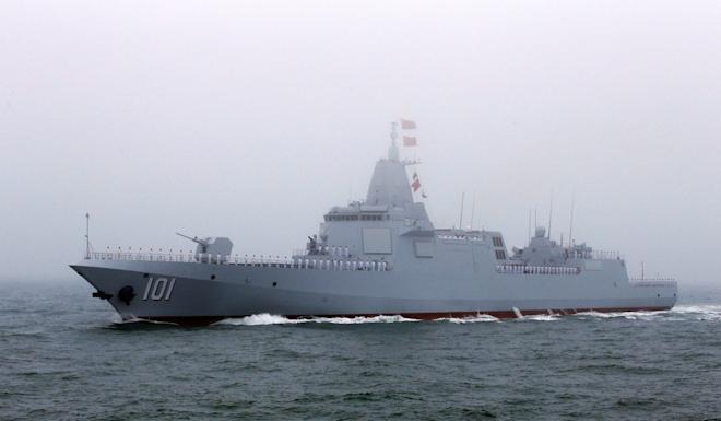 The warship appeared at the navy's 70th anniversary parade last year, but insiders said its equipment had not been finished. Photo: Reuters
