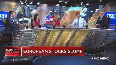 Andres Garcia-Amaya, Zoe Financial; Darrell Cronk, Wells Fargo; and Gabriela Santos, J.P. Morgan Funds, discuss the sell-off across global markets on trade worries and as well as the economic impact for both the U.S. and the world.