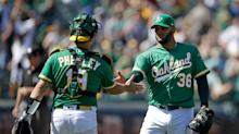 Chapman, Canha Lead A's In 8-4 Win Over Astros